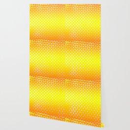 Yellow Sunshine Pattern Design Wallpaper
