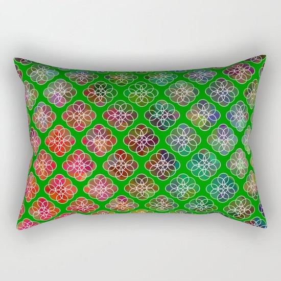 Peek A Boo Colors Rectangular Pillow