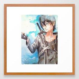 Kirito from SAO Framed Art Print
