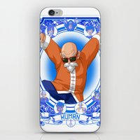 dragonball z iPhone & iPod Skins featuring DragonBall Z - Human House by Art of Mike