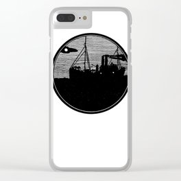 Silent boat. Clear iPhone Case