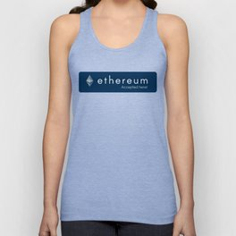 Accepted here: Ethereum Unisex Tank Top