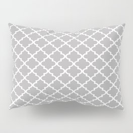 Grey Moroccan Pattern Pillow Sham
