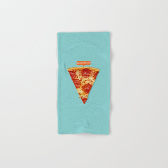 Pizza Hand & Bath Towel