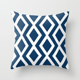 Navy Diamond Throw Pillow