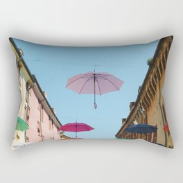 Umbrellas of Ferrara Rectangular Pillow