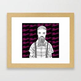 Mister Hipster Framed Art Print