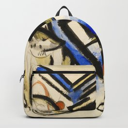 """Franz Marc """"Two Wolves"""" Backpack"""