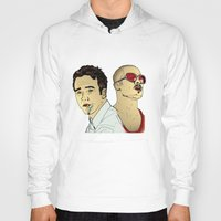 brad pitt Hoodies featuring Tyler Durden's... Ed Norton and Brad Pitt by Matty723