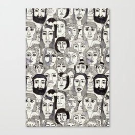 Faces in the Tube Canvas Print