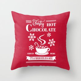 Tasty Hot Chocolate Red Throw Pillow