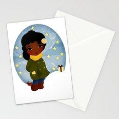 Rosy Stars Stationery Cards