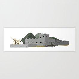 Arrrr fortress Art Print