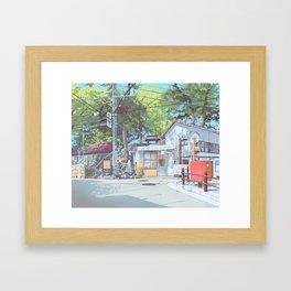 Kanagawa Police Box Gerahmter Kunstdruck