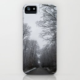 Take the long road and walk it iPhone Case