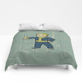 Vault Boy - fallout 4 Comforters