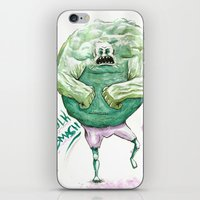 hulk iPhone & iPod Skins featuring Hulk by Crooked Octopus