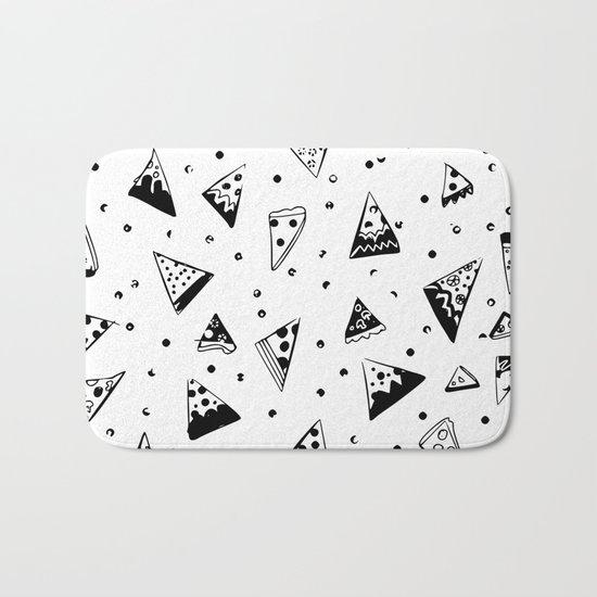 Hipster pizza seamless drawing Bath Mat