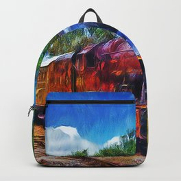 Steam Train Painting Backpack