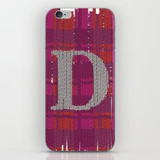 Winter clothes. Letter D. iPhone & iPod Skin