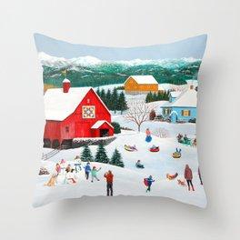 Winter Memories Throw Pillow