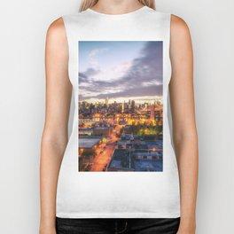 New York City Skyline - Evening Biker Tank