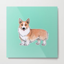 Pembroke Welsh Corgi dog Metal Print
