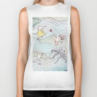 cook Biker Tanks featuring Cook Party by Jane Chu
