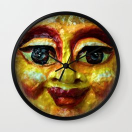 Face of happiness Wall Clock