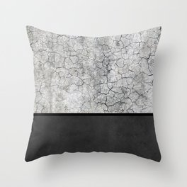Rock the Casbah // concrete and paint colorblock collage Throw Pillow