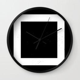 (SQUARE) (BLACK & WHITE) Wall Clock