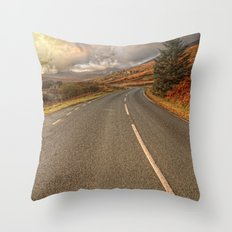 Road Of Colours Throw Pillow