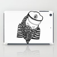 captain silva iPad Cases featuring Captain by Moran Bazaz