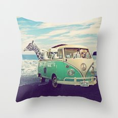NEVER STOP EXPLORING THE BEACH Throw Pillow