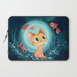 Ginger cat and fishes Laptop Sleeve