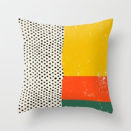 Vintage Mid-Century Abstraction - maximalist, entryway, decor, organic, composition, painting, mid c Throw Pillow