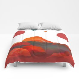 """""""Coral Sci-Fi Mountains"""" Comforters"""