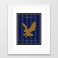 ravenclaw Framed Art Prints featuring Ravenclaw by Winter Graphics