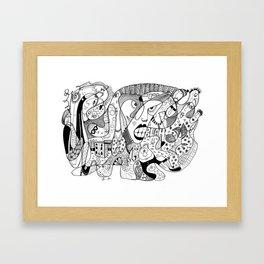 Squoodle 4 Framed Art Print