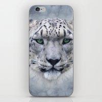 snow leopard iPhone & iPod Skins featuring snow leopard by ulas okuyucu