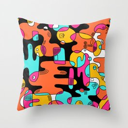 New wave 001 Throw Pillow
