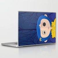 coraline Laptop & iPad Skins featuring Black is traditional. by Laz Llanes