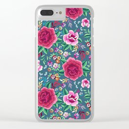 SPANISH ROSE Clear iPhone Case