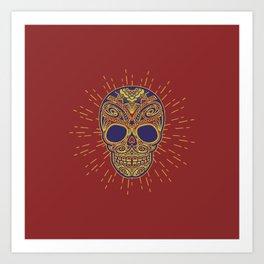Golden catrina Art Print