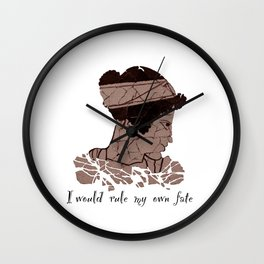 I Would Rule my Own Fate - Helen of Sparta Wall Clock