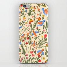 Tropical Garden Pattern iPhone & iPod Skin