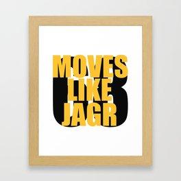 Moves Like Jagr Framed Art Print