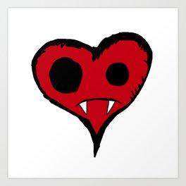 Heart Vampire Art Print