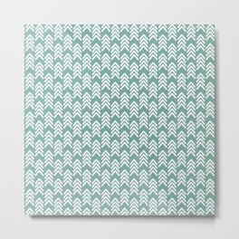 Arrows 4 > Mineral Teal Metal Print