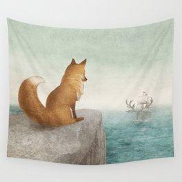 The Day the Antlered Ship Arrived Wall Tapestry